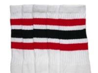 05c294de305 Red-Black striped knee high tube socks