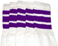 8dabcceb9dc Purple striped knee high tube socks