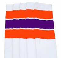 15b4013f2f2 Orange-Purple striped knee high tube socks